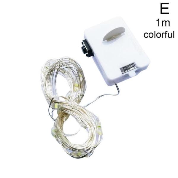 Fjärrkontroll Led koppartrådslampa Liten lykta vattentät E Multi-color 1m