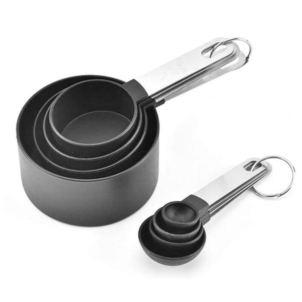 Rostfritt stålmätningskoppar Skedar Set Bakin Kitchen
