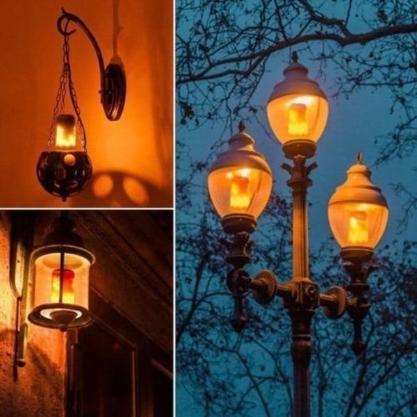 3 lägen LED Flicker Flame Lamp Bulb Fire Effect Christmas Decor