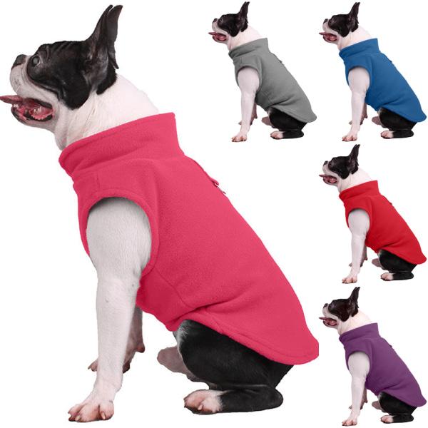 hund, ren färg sällskapsdjur kläder sällskapsskjorta T-shirt tröja grå XL