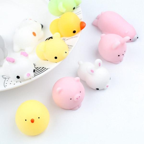 5ST Mochi Toys Animal Party för barnleksaker multicolor 5