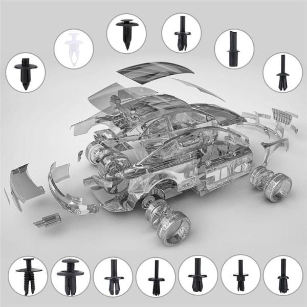 Car Body Push Pin Rivet Fastener Trim Molding Clip 100 Pcs(inclue tool)