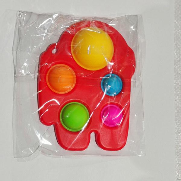 Fidget Toy Relax Antistress Among Us Keychain Black Among Us