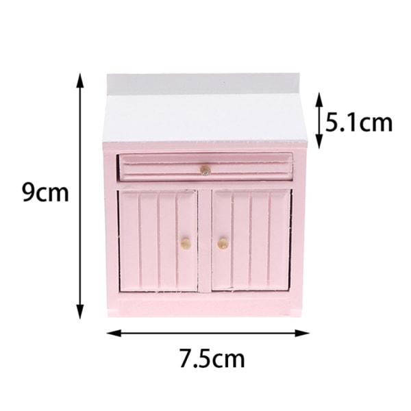 1:12 Dollhouse Miniature Corner Cabinet Tvättställ Matlagningsbänk