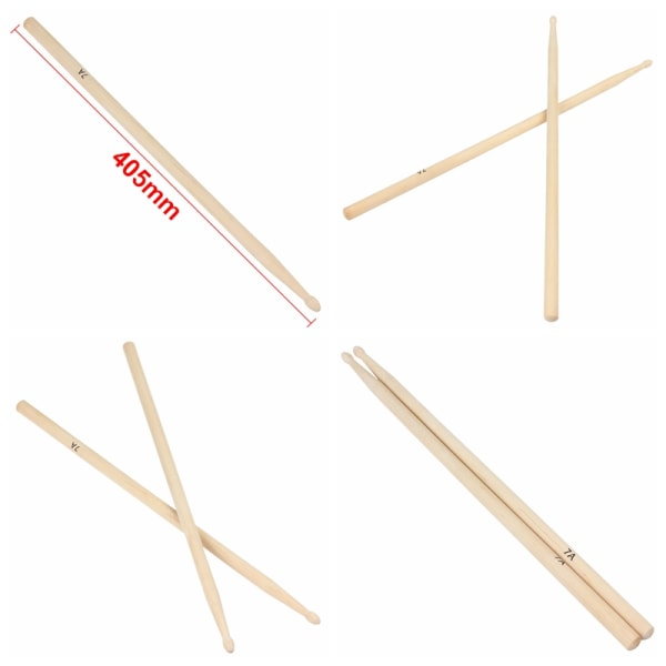 1 par 7A Praktisk trumsticks i lönntrum Trumsticks Music Ban