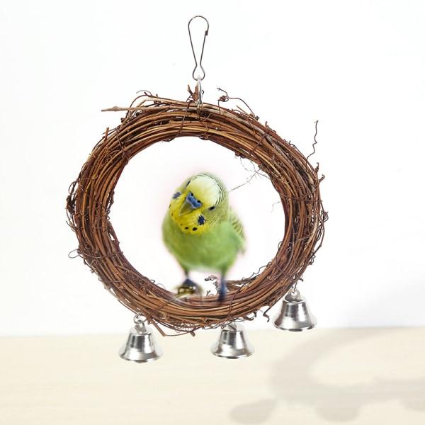 1 x fågel papegoja rotting gunga ring hängande husdjur undulat undulat c