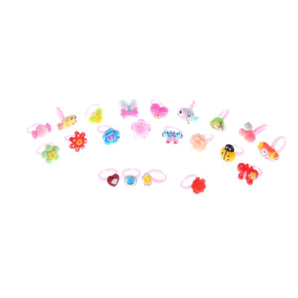 10 st Barn tecknade ringar leksak Plast Barn Barn Djurflöde