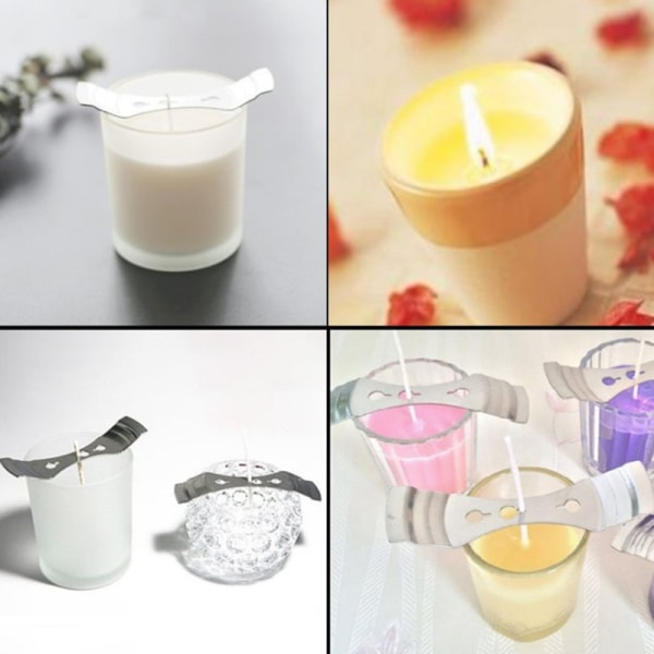 100st Kvalitets Bomullsljus Wick Rökfritt Wick Candle Bomull C