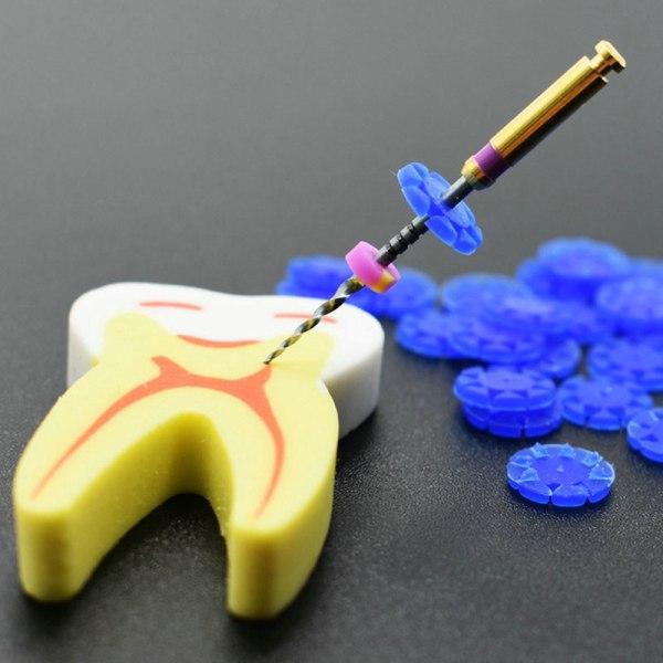 100st rotfiler stoppare desinfektion märkning cirkel tand