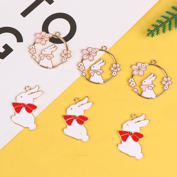 10st emaljblommor charm örhänge hänge armband halsband B