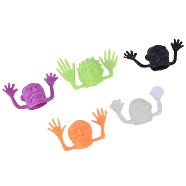 10ST / Set Halloween plastfingerplattor Liten studsande leksak DIY