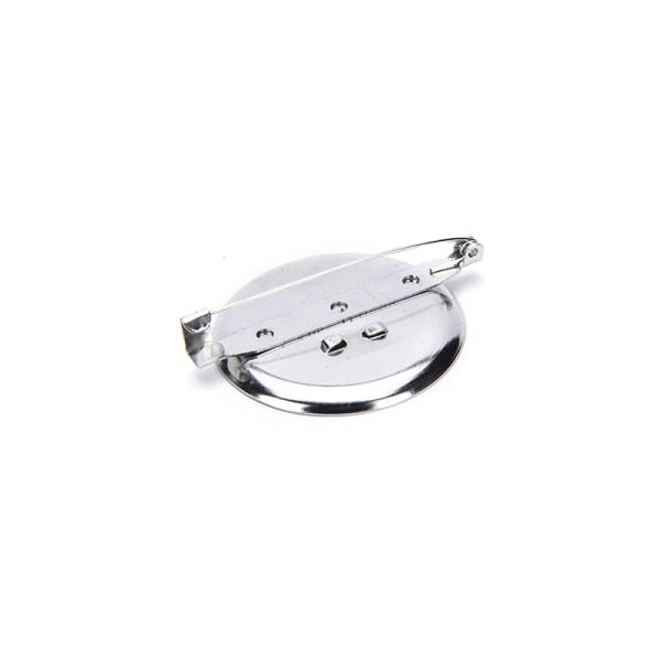 10st Silverpläterad Brosch Pin Findings DIY Supply Safety