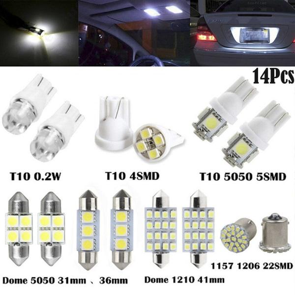 14st LED-interiörpaket för T10 36mm Map Dome License Pl