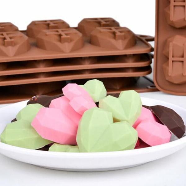 15 håligheter mini hjärta choklad mögel silikon godis formar gummy one size