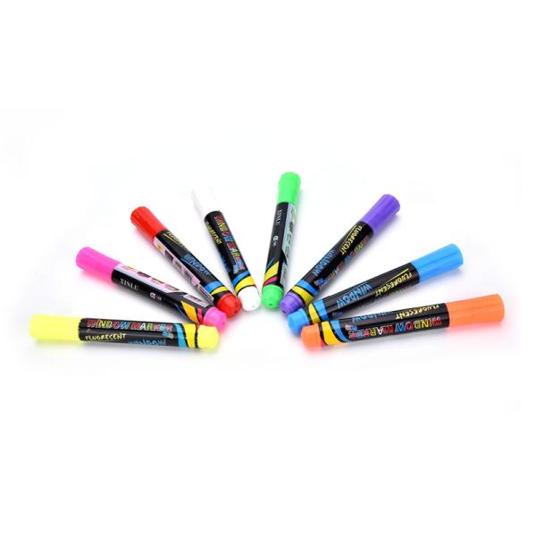 1PC flytande krita penna markör för glasfönster svarta tavlan Blackb