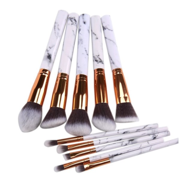 1set Marbling Makeup Tube Makeup Brushes Barrel Makeup Brush Bea