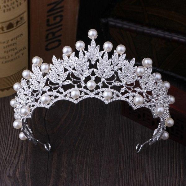 2019 Nytt mode bröllop Crystal Pearl Crowns Rhinestone Tiara