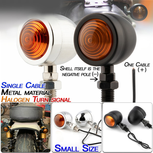 2st kula motorcykel blinkers indikatorlampa 12v motor bl