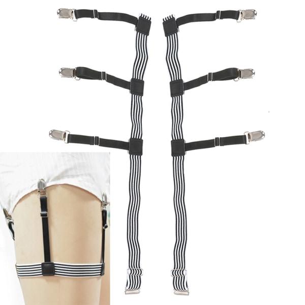 2st Mens elastisk justerbar skjorta förblir strumpebandben