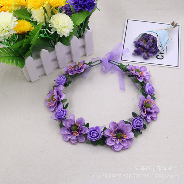 Baby Girls Crown Flower Wreath Hairband Kids Bridal Floral Head 6