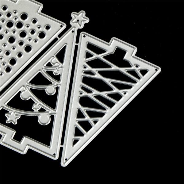 3st Julgransmetallskärmunstycken för DIY Scrapbooking Alb