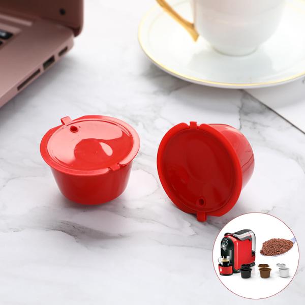 3st / set kaffefilterkopp med skedborste passar återanvändbart kaffe Clear
