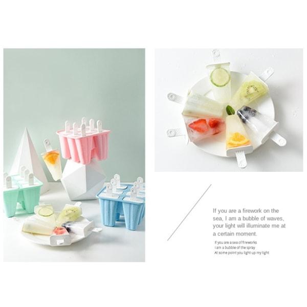 4/6/10 cell silikon glass mögel popsicle mögel DIY dessert fr Blue 4grid