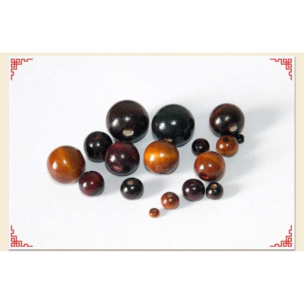 50 st / parti DIY pärlor runda lösa träpärlor smycken mak A A4