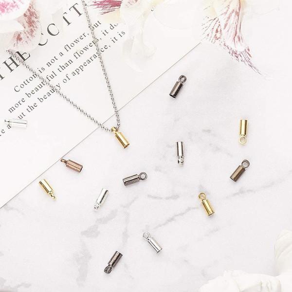 50st halsband sladdänd krymplock ögla DIY lås armband juvel
