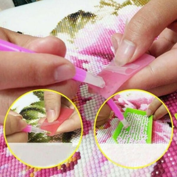 5D Diamantmålningsverktyg Tillbehör Kit Hantverk DIY Diamond M