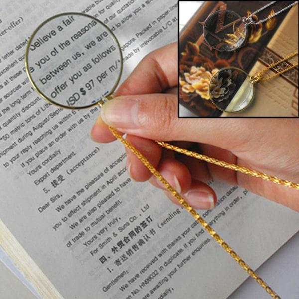 5ST Förstoringsglas Dekor Monocle Lens Halsband Förstoringsglas Coi