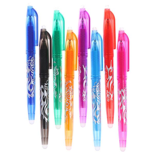 8 färger 0,5 mm raderbar penna gel penna skola kontor skriva suppl