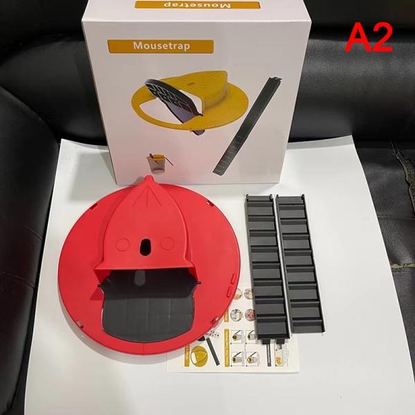 återanvändbar smart mus råttfälla plast flip slide hink lock mous A2