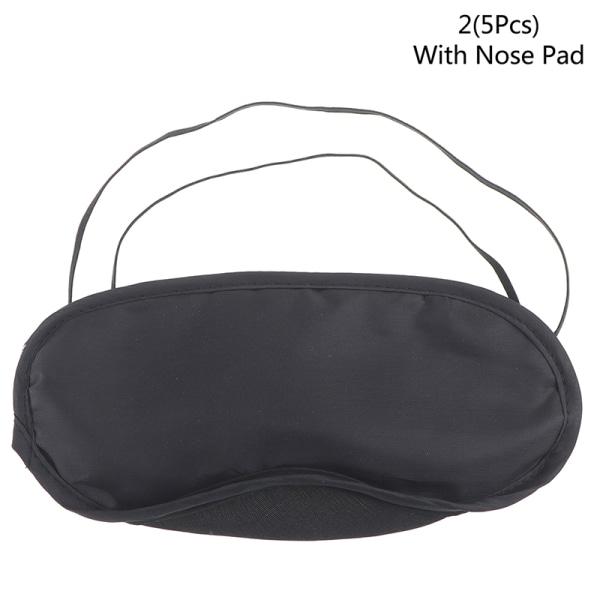 10st Bekväma sömnögonmask Skyddsfodral Ögonbindel Natt Sl 2(5Pcs B)
