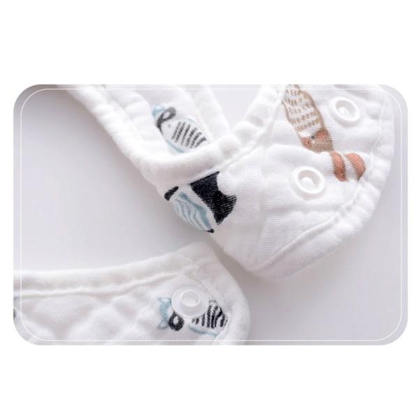 baby haklappar u-formad bandana utfodring haklapp saliv handduk barn flicka bo