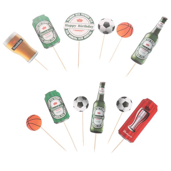 Idérik scen för dekoration för ölflaskbasketbaskakort