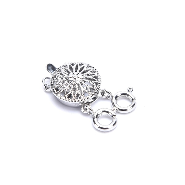 DIY flerskiktade choker halsband armband kontaktdon spänne lob Silver-2