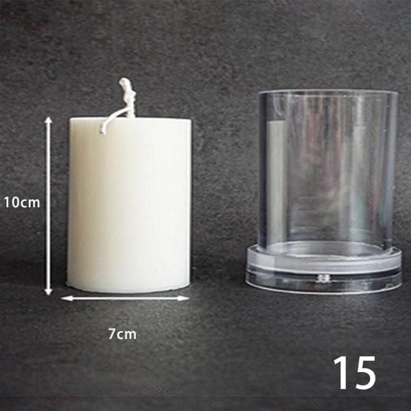 diy silikonstake mögel 3d mögel kolumnerad akryl mögel tvål mögel 15