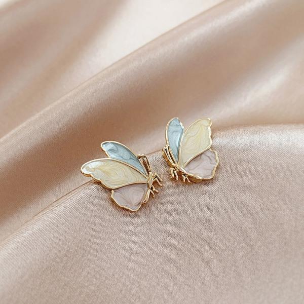 utsökt fjäril s925 örhängen kreativitet smycken tillgång 2*1cm