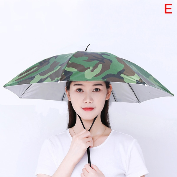 fishingumbrella hatt hopfällbar paraply cap camping fiske vandring E