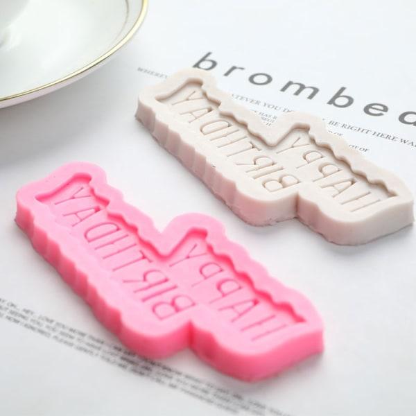fondant kaka präglar plast bokstäver mögel grattis på födelsedagen önskar Pink