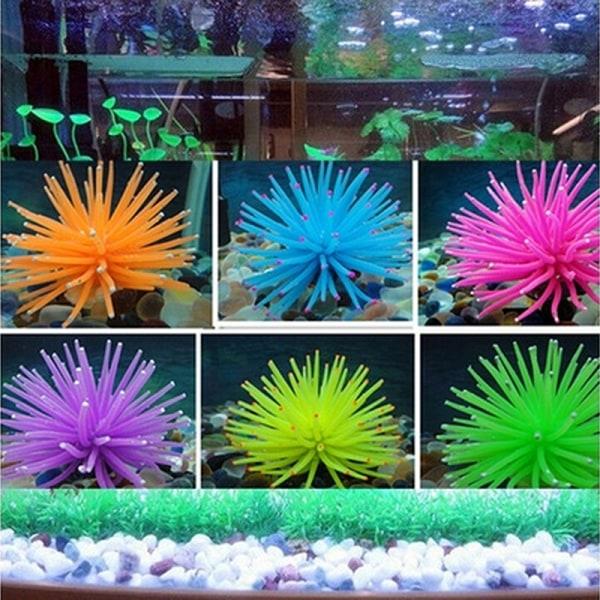 Hot Silicone Aquarium Fish Tank Decor Artificial Coral Plant Un