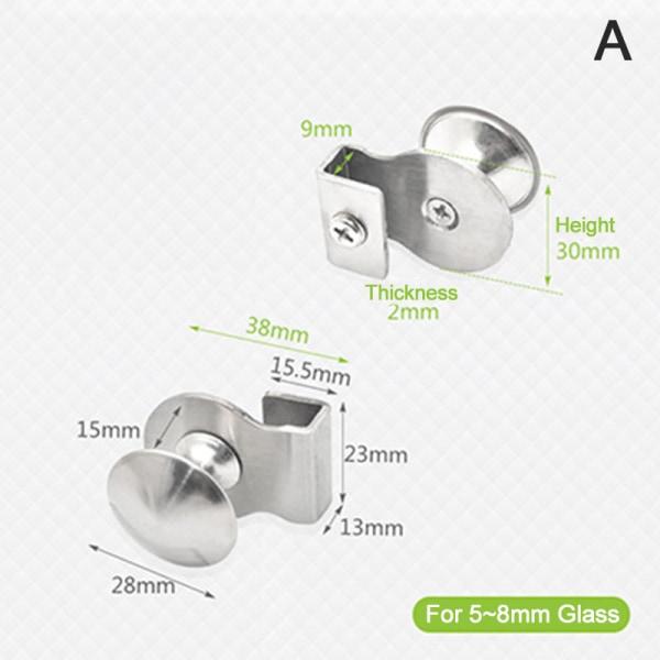 inget dörrhandtag / klämma / clips för kontorsglas A
