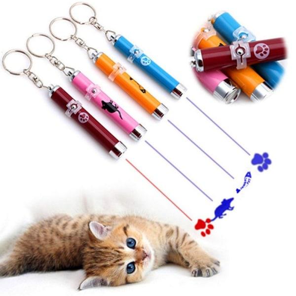 led pekare ljus penna otroligt katt leksak roliga husdjur leksaker ljusa a Silver