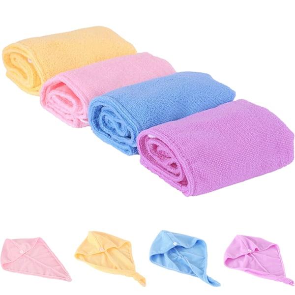Microfiber Hair Wrap Handdukstorkning Bath Spa Head Cap Turban Twis