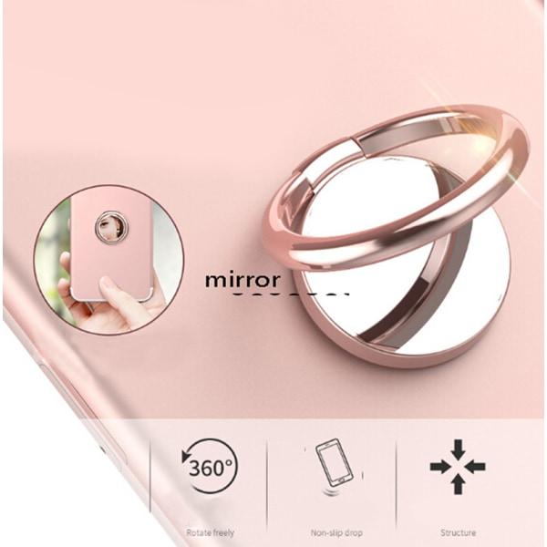 Spegel Finger Ring Telefonhållare Universal Mobiltelefon