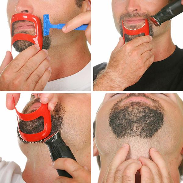 Mustasch Beard Salon Styling Verktyg för män Mode rakning Shapin