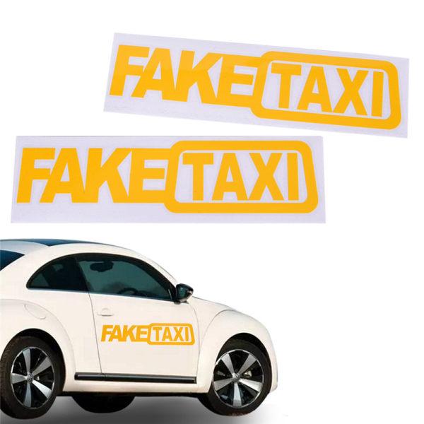 Ny bil klistermärke FAKE TAXI för JDM Drift Race Auto Rolig Vinyl