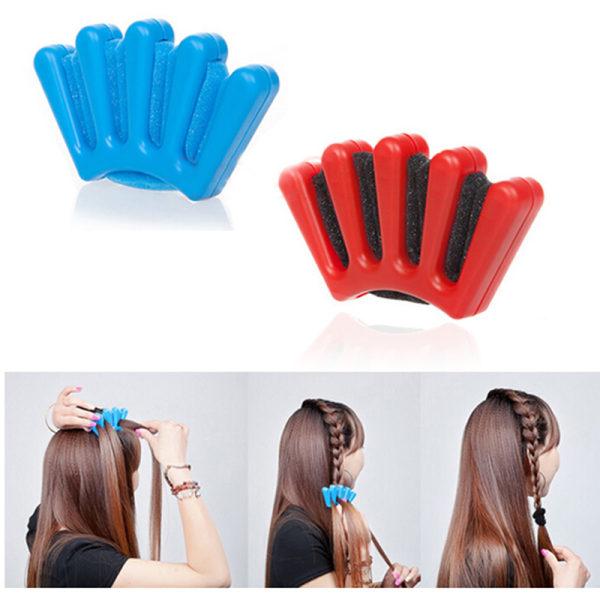 Ny hårflätad flätstylist Svampflätad hårvridning