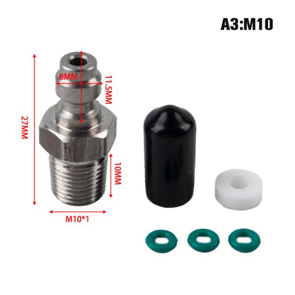 pcp paintball pneumatisk snabbkoppling 8mm m10x1 hankontaktadapter A3